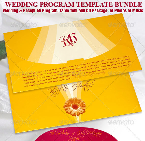 wedding program template bundle this design template bundl flickr