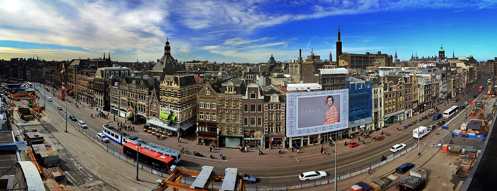 Rokin Amsterdam | 10-photo panorama of the Rokin in ...