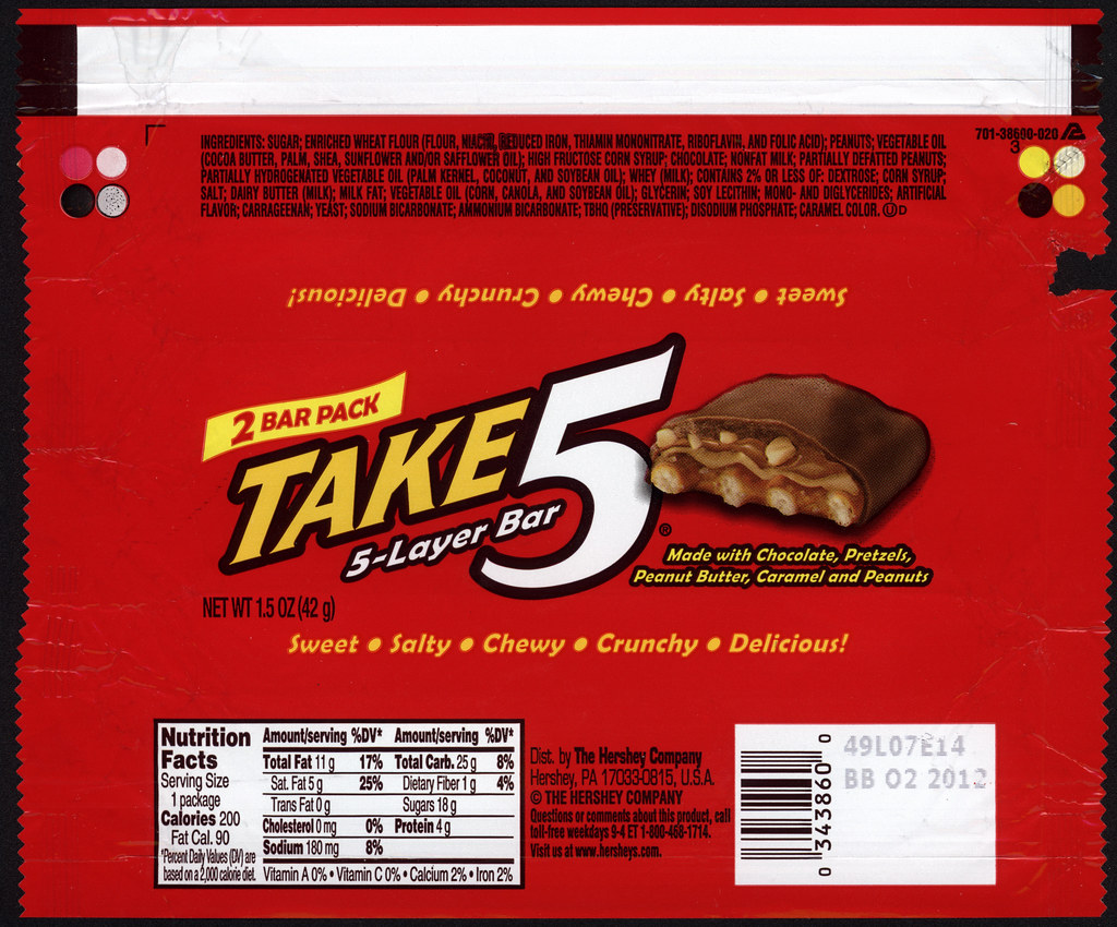 Hershey Take 5 2 Bar Pack Chocolate Candy Bar Wrappe Flickr