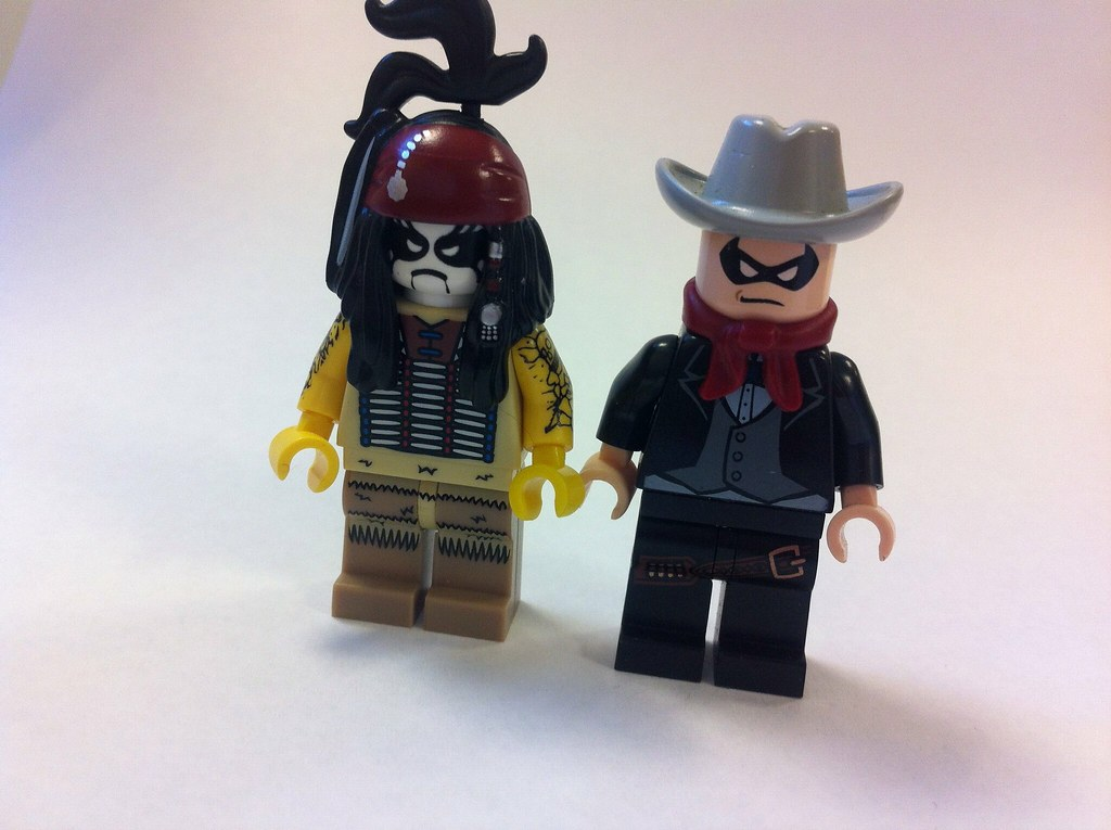 custom lego lone ranger and tonto based off of the upcomin flickr. Black Bedroom Furniture Sets. Home Design Ideas