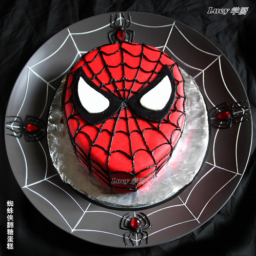 Spiderman Marshmallow Fondant Cake | by Lucy's Corner