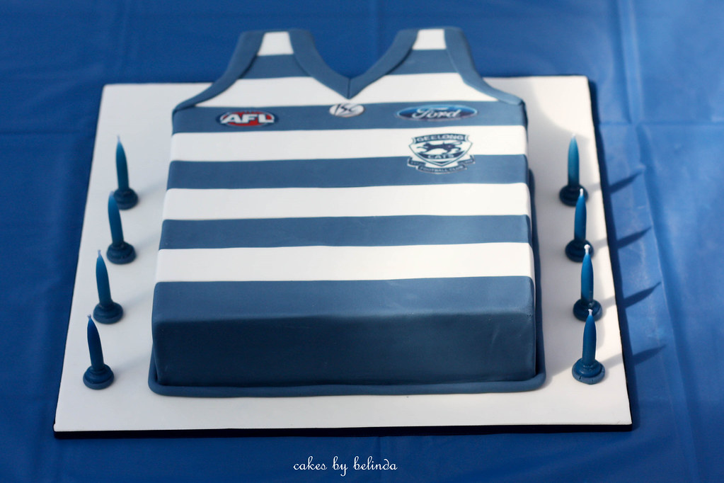 Afl Jumper Cake This Cake Was For My Sons 13th Birthday Flickr