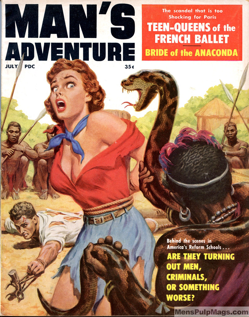 Cover by Clarence Doore | by SubtropicBob  sc 1 st  Flickr & MANu0027S ADVENTURE July 1959. Cover by Clarence Doore | Flickr