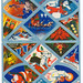 Stained Glass Layout of Christmas Seals (1940s)