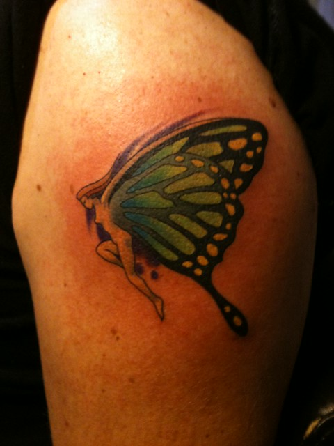 keith groves butterfly fairy tattoo artistic ink flickr photo sharing. Black Bedroom Furniture Sets. Home Design Ideas