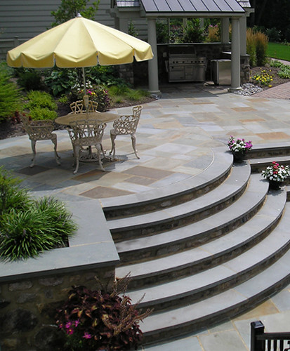 Curved Outdoor Stairs By Joanne Kostecky Garden Design In