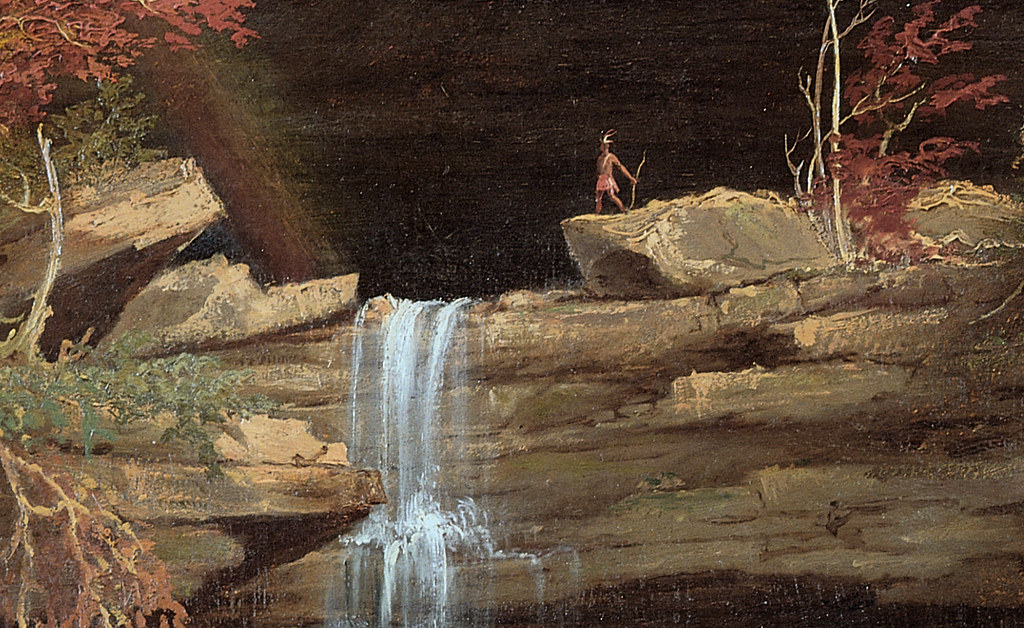 (Detail) Thomas Cole 'Falls of the Kaaterskill' 1826, oil ...