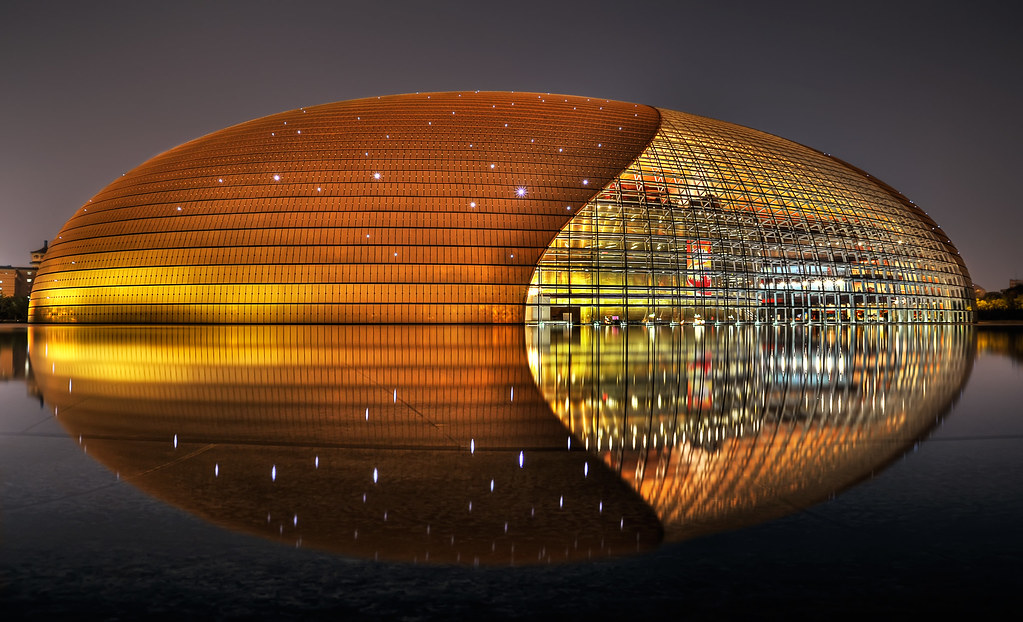 The bullet lost in beijing hit l for a for National centre for the performing arts architecture