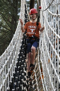 Benton descends from the ropes course | by secondtree