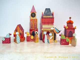 Jim's Nativity 3 - Complete | by Carlos N. Molina - Paper Art