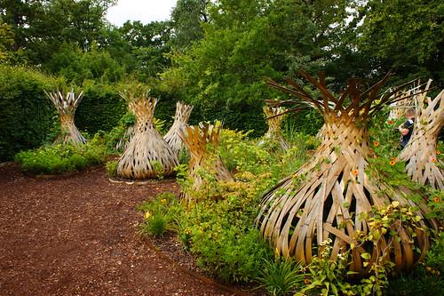 wooden garden art