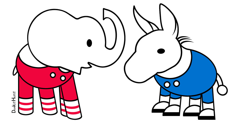 republican elephant democratic donkey icons elli the r flickr