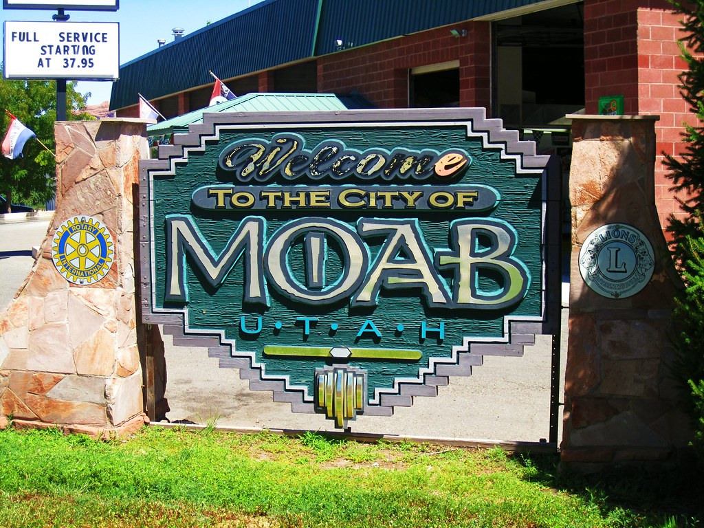 Welcome to Moab sign   f l a m i n g o   Flickr