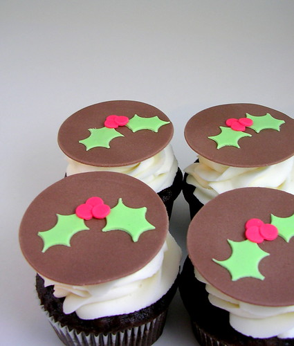 Holly Cupcake Decorations
