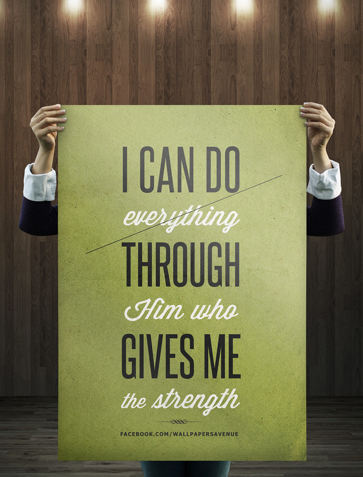 Philippians 413 Typography Typography Featured In The Pop Flickr