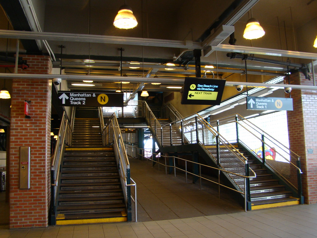 Great ... Brooklyn   Coney Island / Stillwell Aveue   Stairs To N Train Platforms  | By Ramalama_22