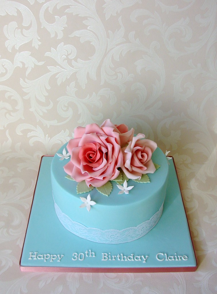 Vintage Roses Birthday Cake For Claire This Cake Was Order Flickr
