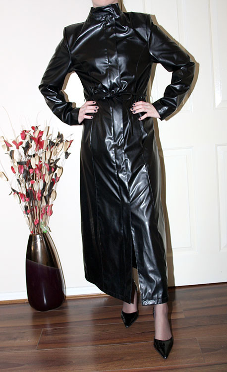 Long Faux Leather Mac For Sale Soon Sheerglamour Flickr
