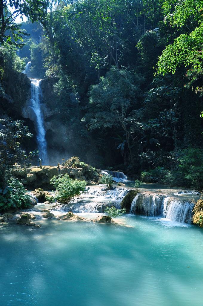 Upper Falls Tat Kuang Si Luang Prabang Lao Pdr View Lar Flickr