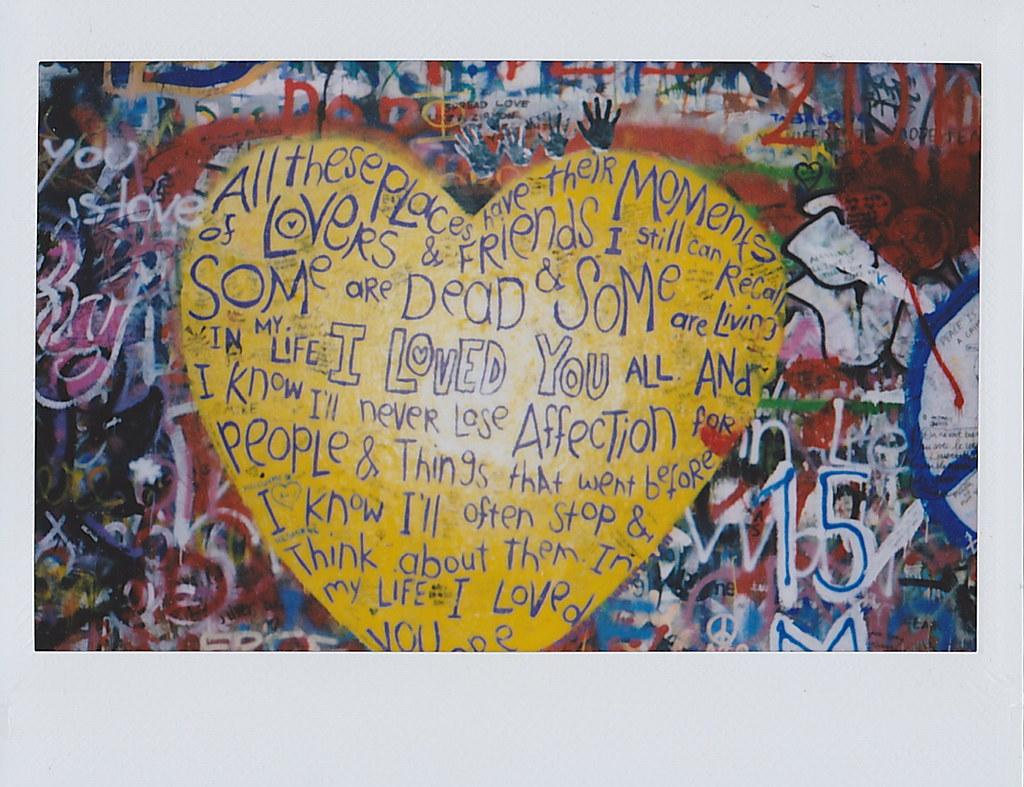 John Lennon Peace Wall | Prague, Instax 210 | Carolyn Lim | Flickr