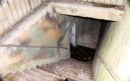 Stairs leading to a basement area under part of the fuhrerbunker at