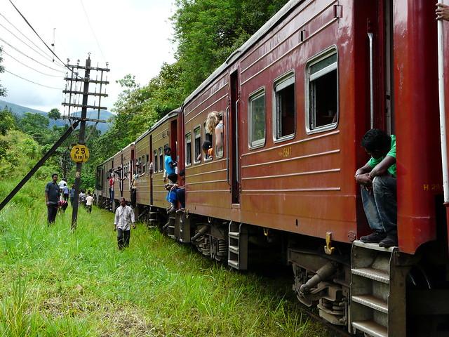 Tren averiado en Sri Lanka