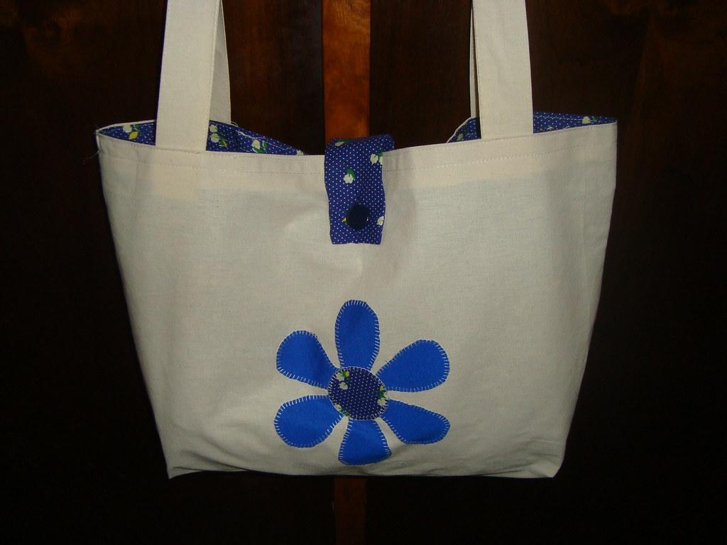 Bolsa De Praia Feita De Tecido : Bolsa de praia feita algod?o cru com forro