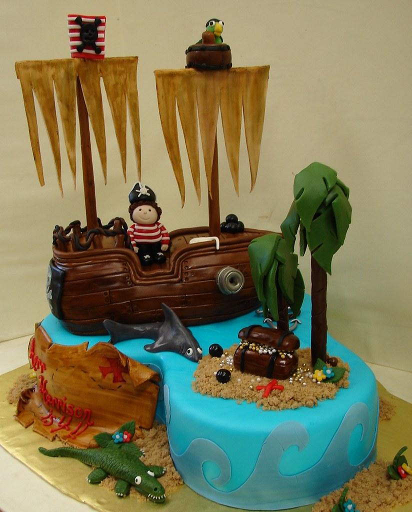 Arrr Pirates Birthday Cake By Jmc Custom Cakes