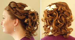 wedding-updo-loosely-pinned | by vanmobilehair