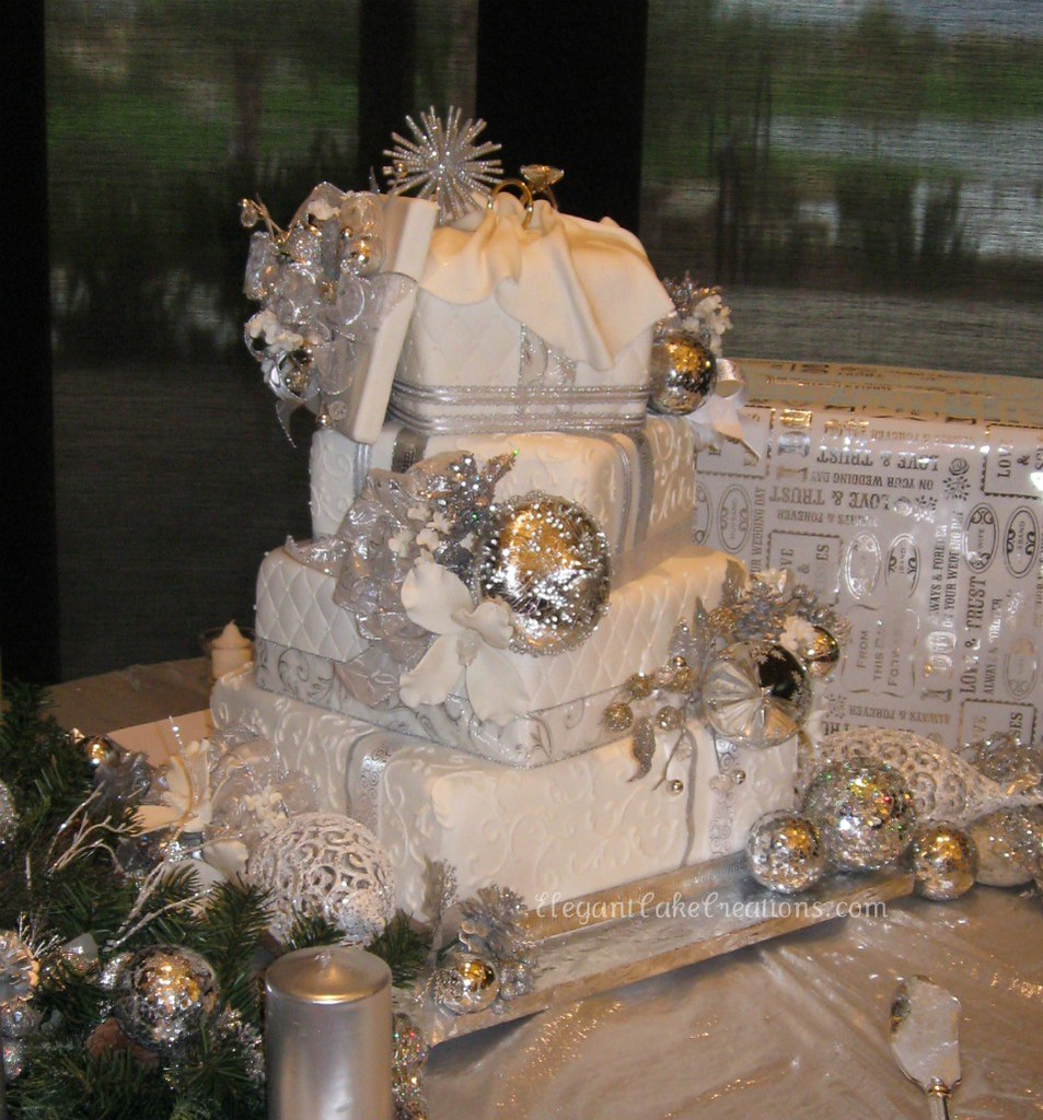 winter wonderland wedding cake pictures winter wedding cake shiny winter 27573