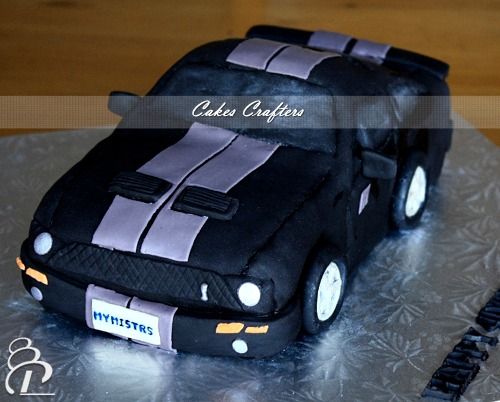 Mustang Car Cake Left view Carved Mustang Shelby Cobra C Flickr