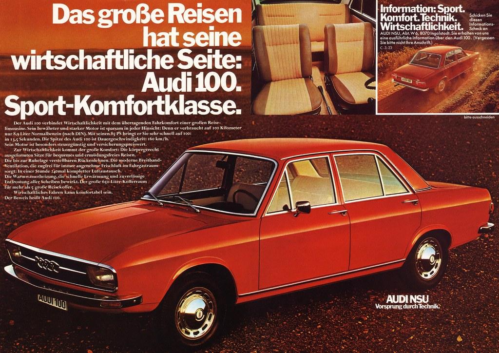 Audi 100 C1 1973 Reisen Das Gro 223 E Reisen Hat Seine