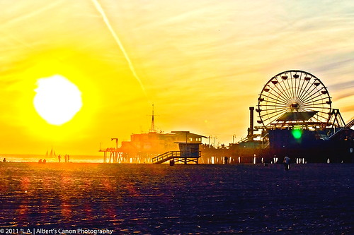 Radiant Sunset seeing from Santa Monica Beach! | by © In 2 Making Images | °L.A.