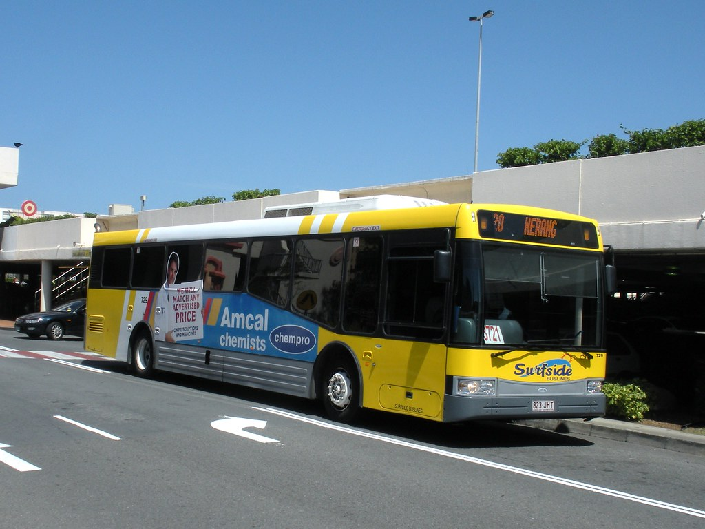 Surfside Bus Lines Gold Coast Volvo B12ble 729 Leaves