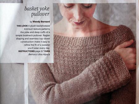 Bakset Yoke Pullover Pattern From Knitwear Magazine Flickr