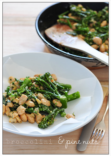 broccolini & pine nuts | by jules:stonesoup