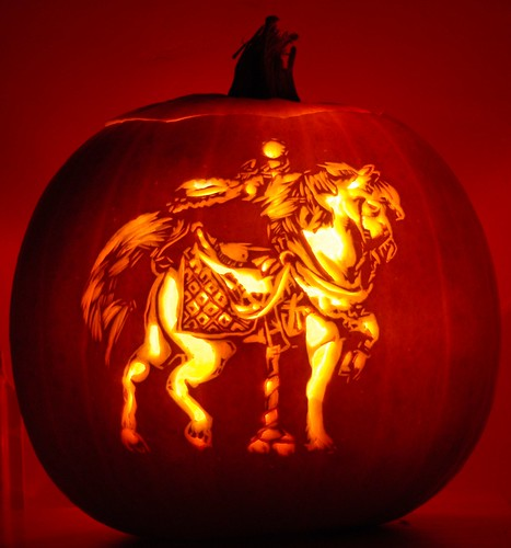 Carousel Horse #2 | A carousel horse carved into a pumpkin ...