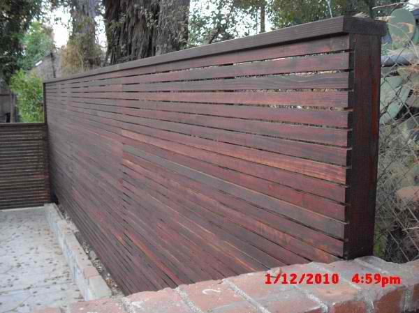 Custom 1x2 Redwood Modern Horizontal Fence amp Gates Patio E