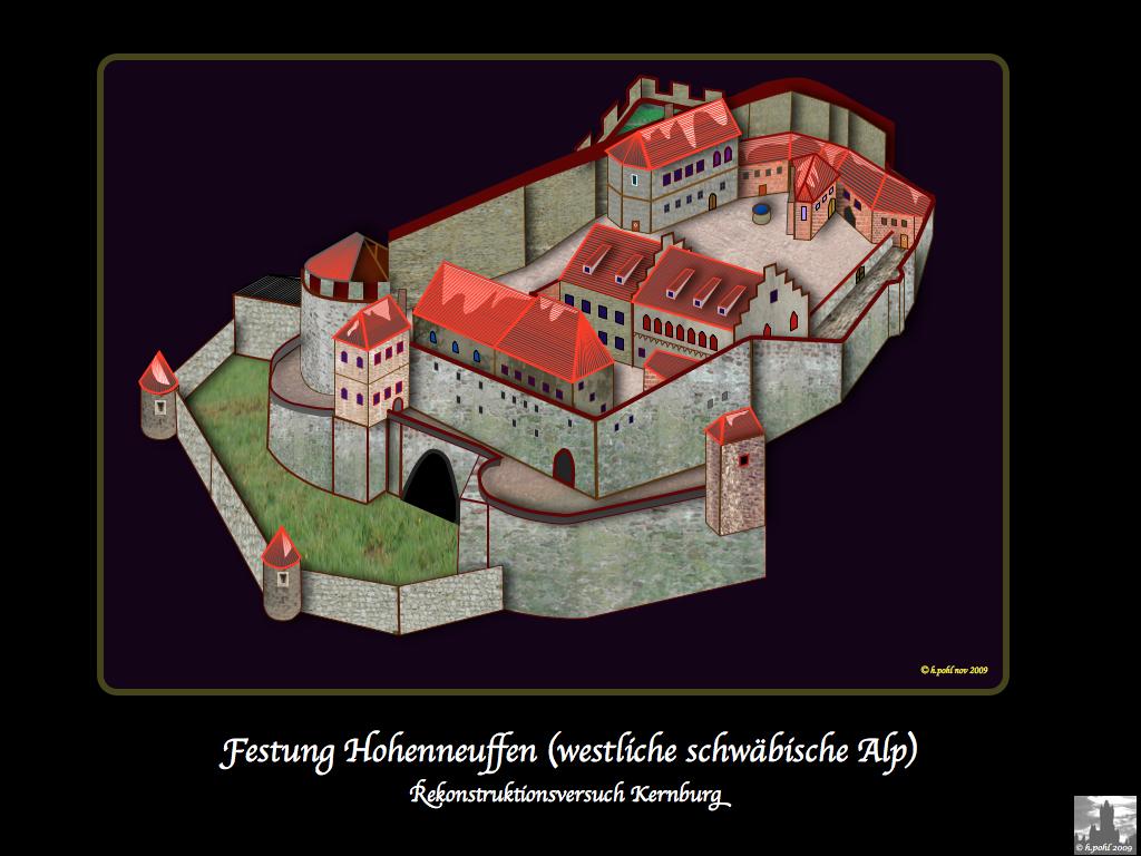 Festung Hohenneuffen | Die Ruine steht oberhalb der Stadt Ne ...