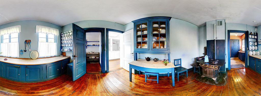 Panoramic kitchen historic kitchen ancher 39 s house in for Kichan photo