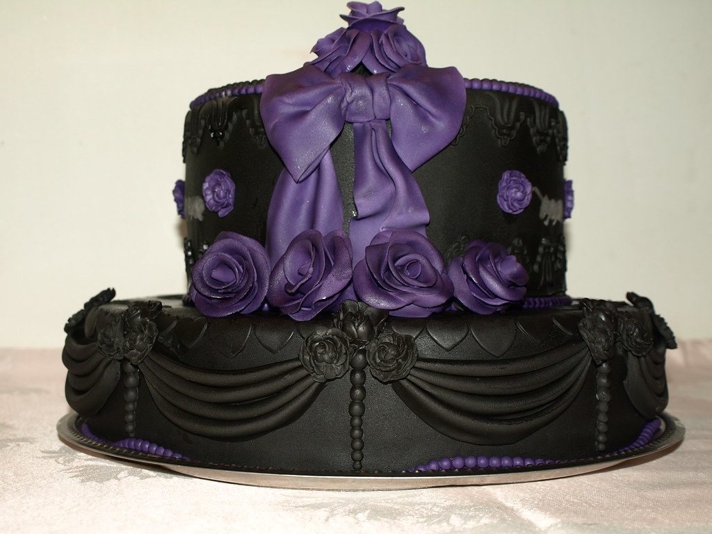 Black Goth Wedding Cake