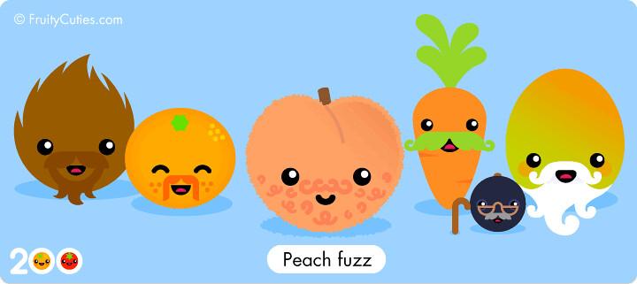 Peach fuzz the 200th fruity cuties joke frizzy fluffy - Fruity cuties jokes ...