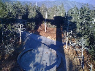 The bottom of the lookout tower ramp plus the shadow being cast by the top part where I was standing | by kartoone76