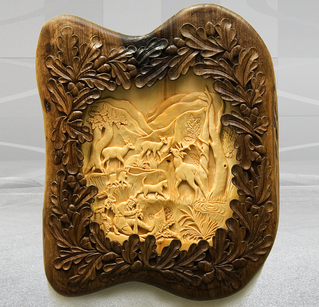 Hunting Scenewall Art Wood Carving Quot Hunting Scene Wiht De