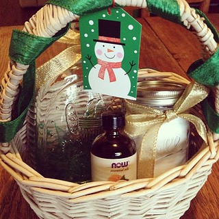 Have a green Christmas gift basket. | by CrystalECollins