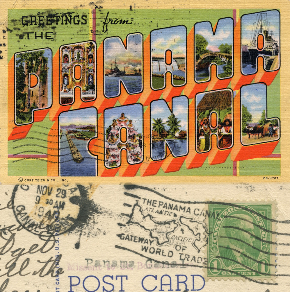 Greetings From Panama Canal Large Letter Postcard Flickr