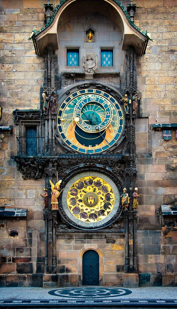 Prague Astronomical Clock Astronomical Clock Mounted On