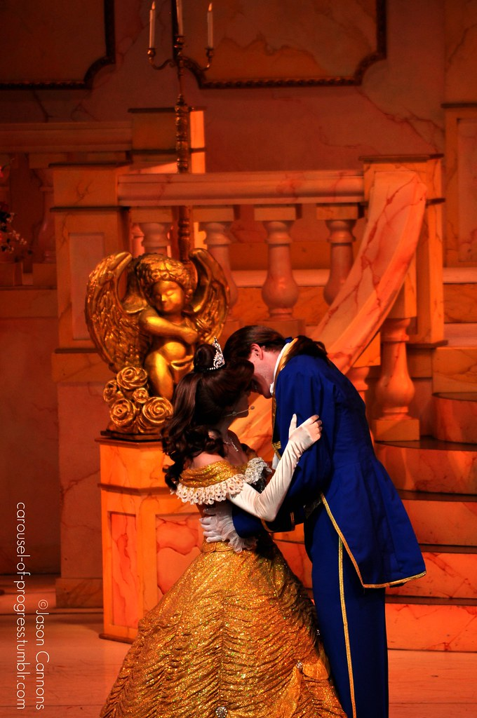 Belle And Her Prince Share A Kiss