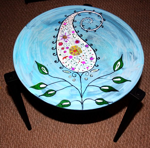 Paisley Plant on Vintage Table | by Rick Cheadle Art and Designs