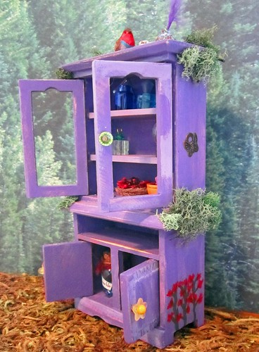 Miniature Fae Cabinet~ 1:12thScale | by Enchanticals ~I'm Coming Back